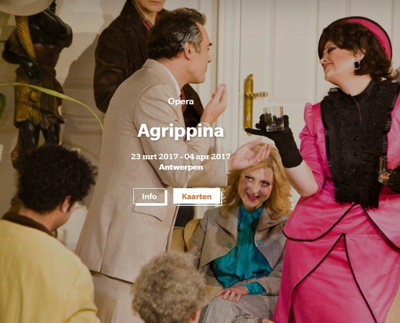 Opera Vlaanderen nu ook voor mensen met een visuele beperking - agrippina