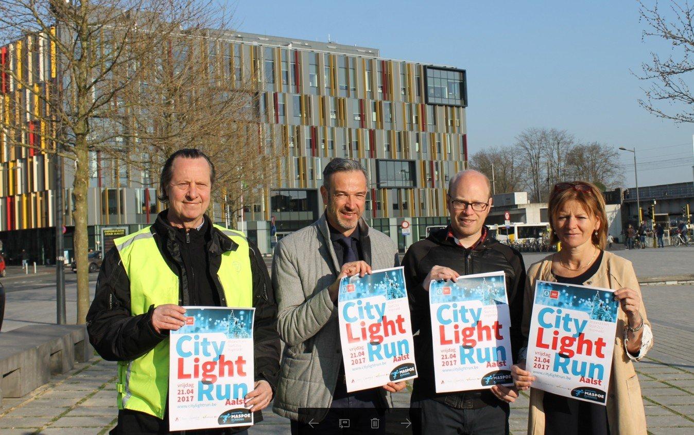 Eerste City Light Run door Aalst-Centrum - light run