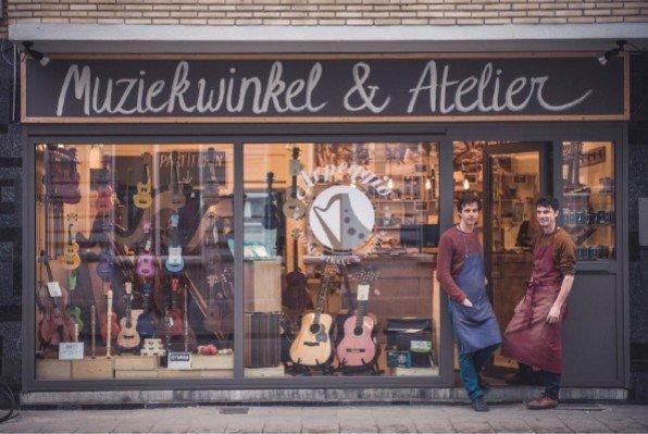 Een buitengewone muziekwinkel in Gent - foto J Dewilde