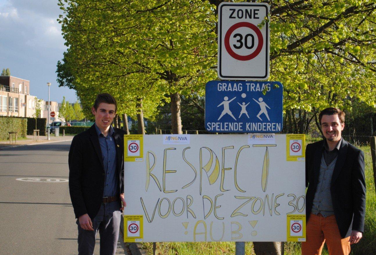 Jong N-VA Lebbeke voor een veiliger verkeer - lebeke zone 30