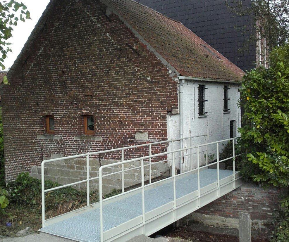 Nieuw brugje achter Beukenhof in Aalst - brug beukenhof
