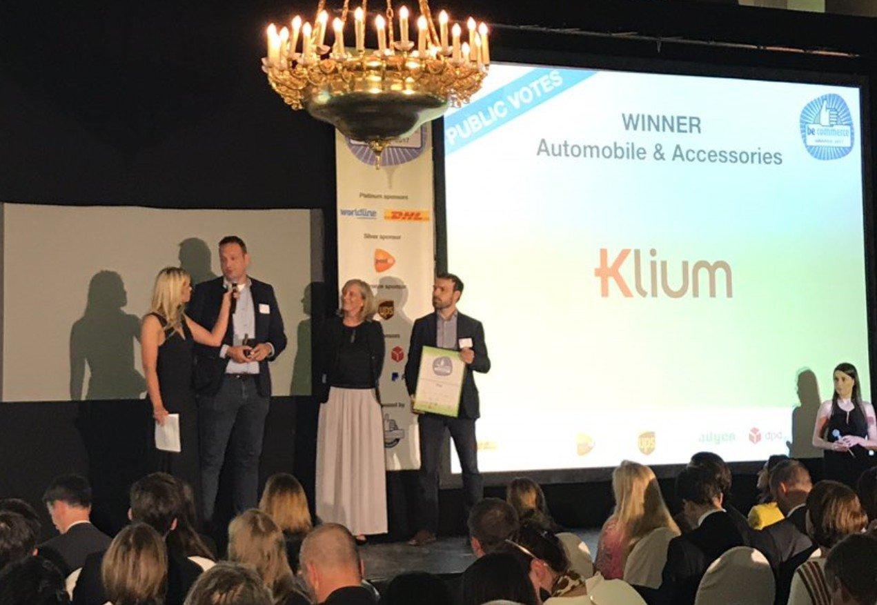 Klium wint na Nederlandse thuiswinkel award nu ook Becommerce award - klium