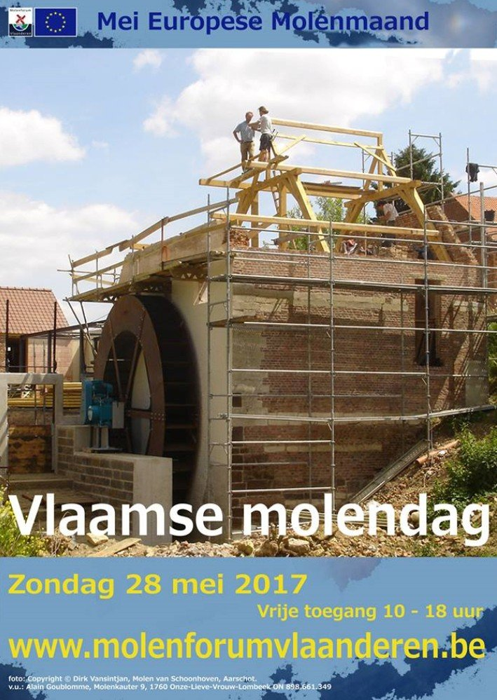 Vlaamse Molendag in Vlaanderen op 28 mei - molendag