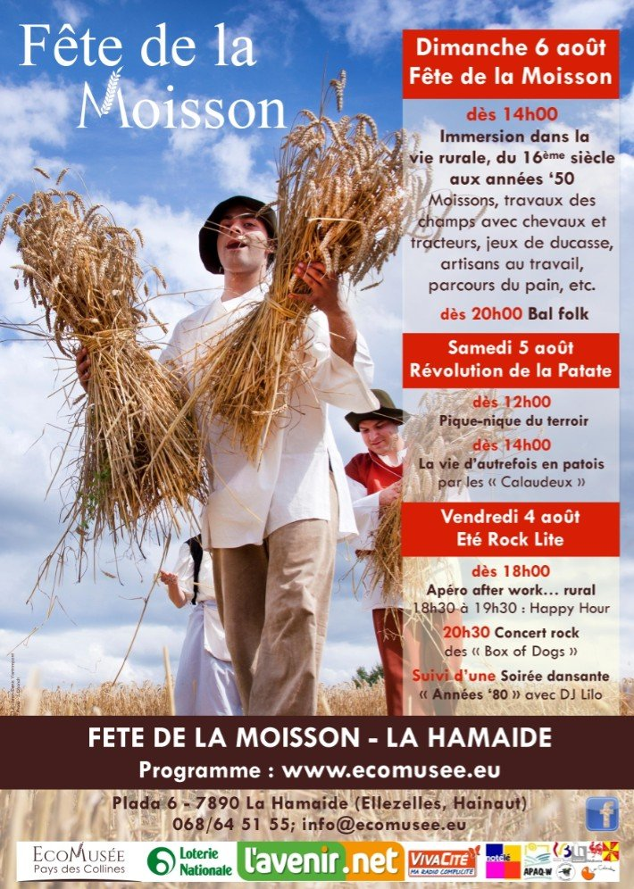 Groots Oogstfeest in le Pays des Collines - oogstfeest