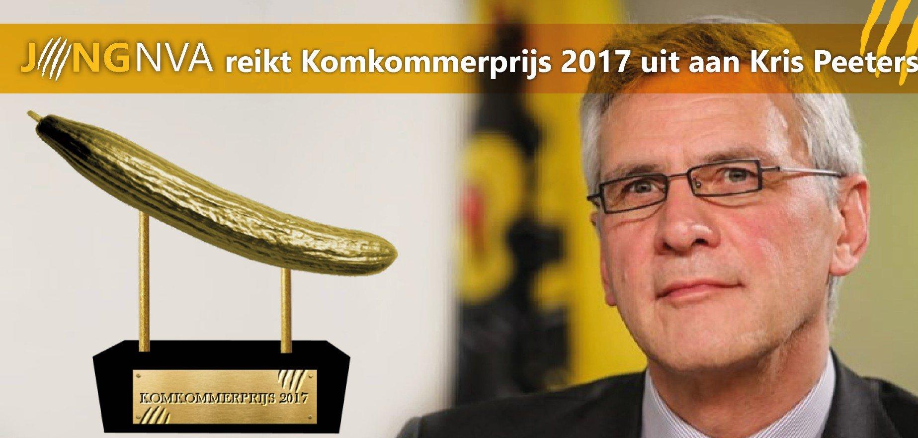 Jong N-VA reikt Komkommerprijs 2017 uit aan Kris Peeters - kris peeters
