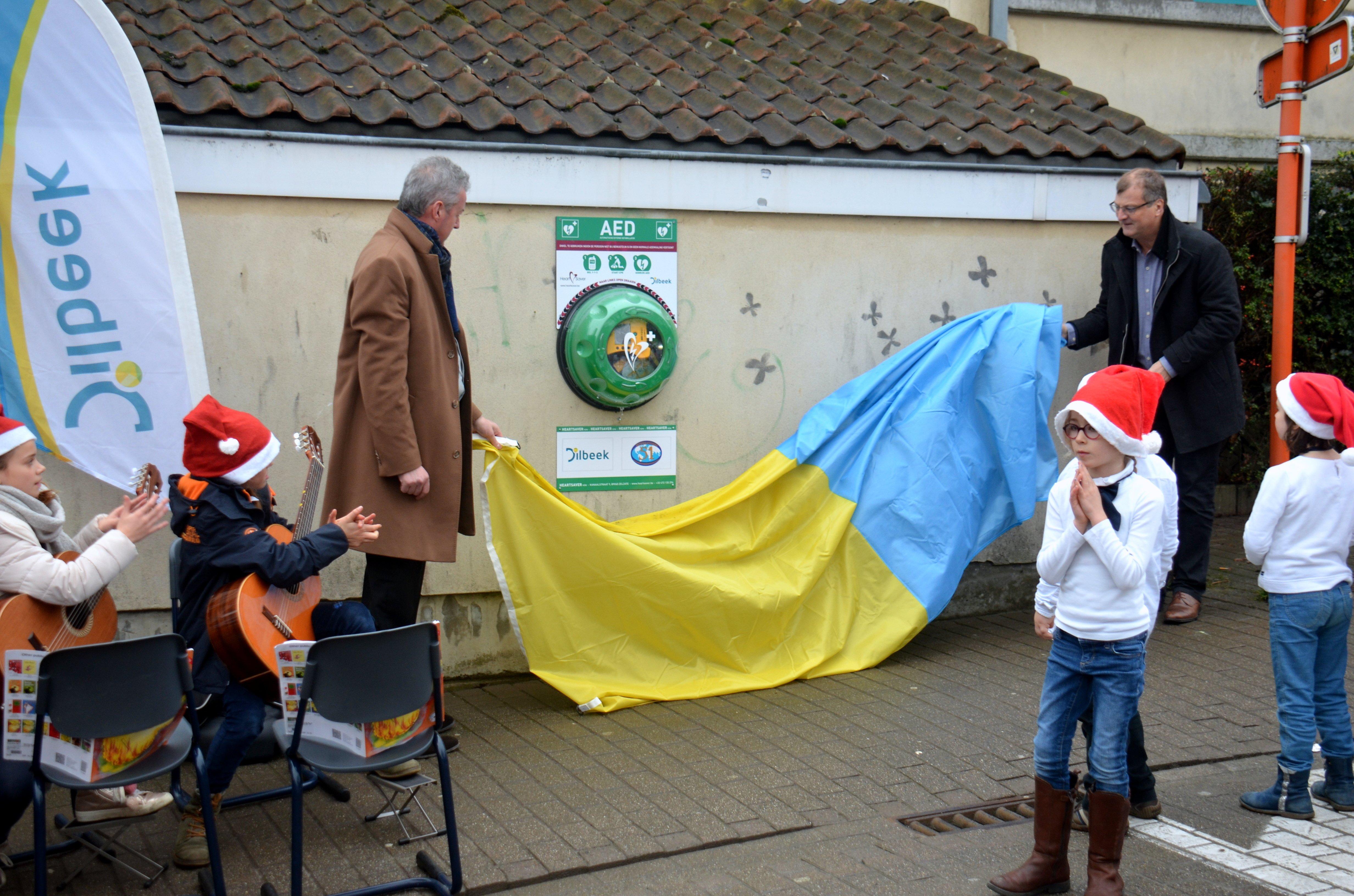 Eerste geschonken AED in Dilbeek onthuld - DSC 0856