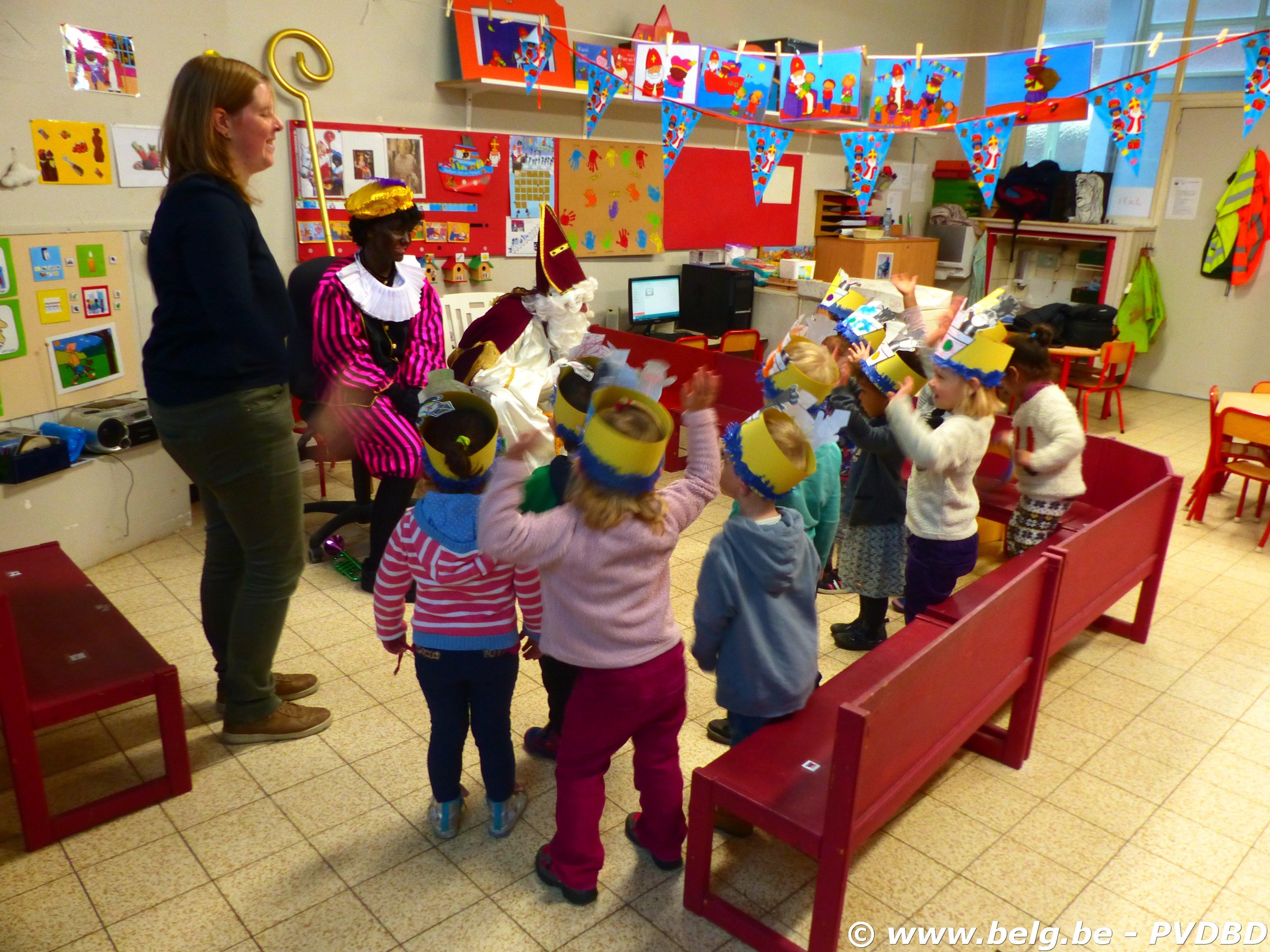 Jan Ruusbroec school verwelkomen Sint en Piet - P1110678