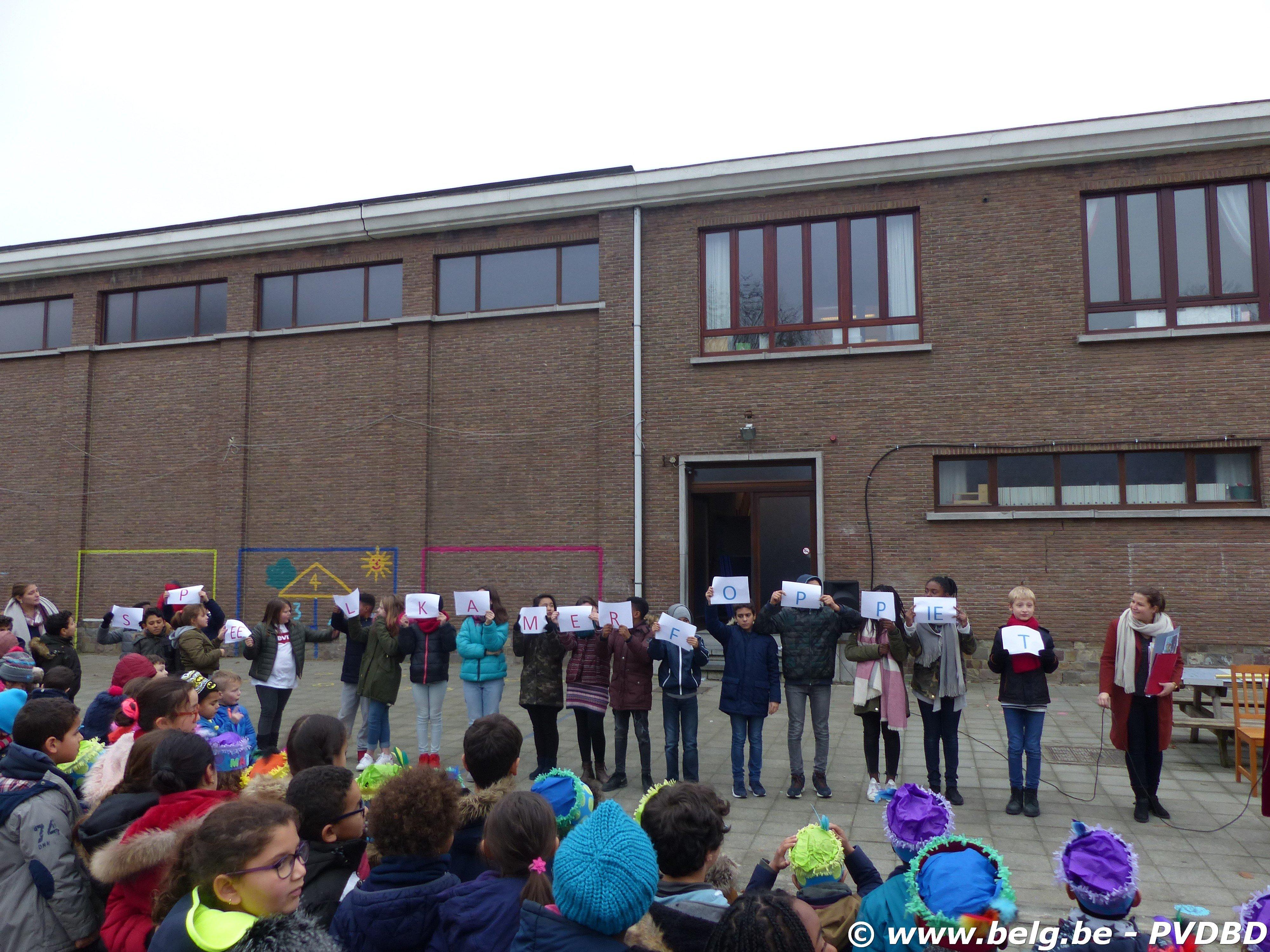 Jan Ruusbroec school verwelkomen Sint en Piet - P1110796