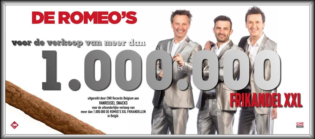 1.000.000 verkochte Romeo's frikandellen XXL in 2017 - De Romeos Frikandel 1.000.000