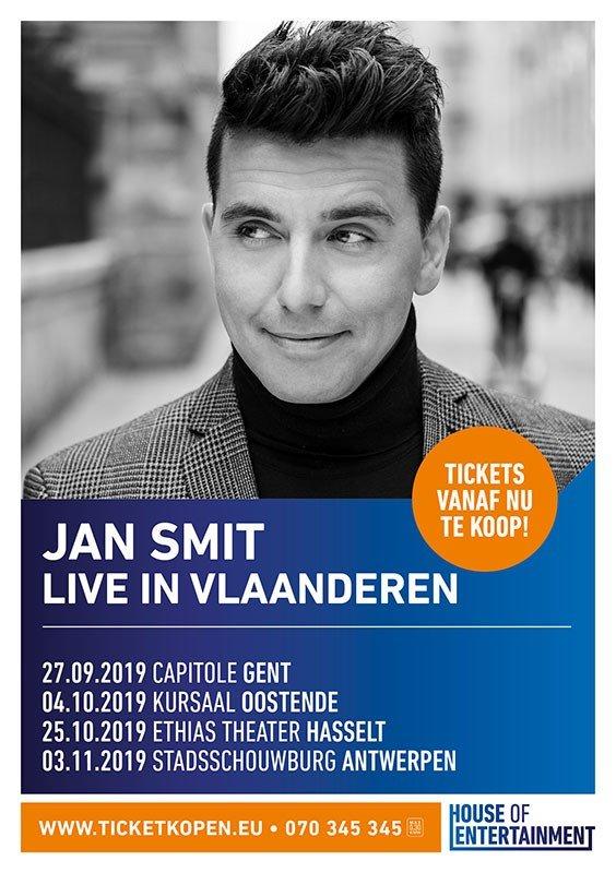 Geslaagd jubileumconcert van Jan Smit in het sportpaleis - Jan Smit theatertournee 2019