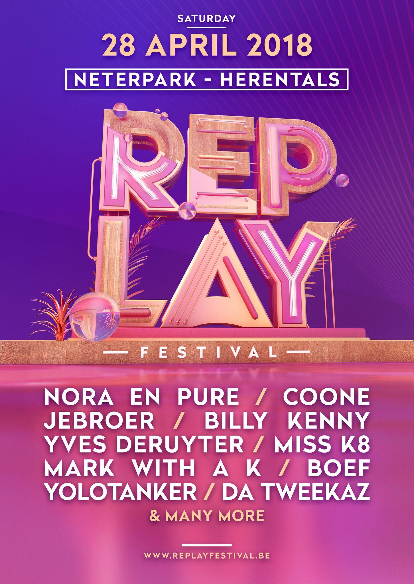 Afterwork Festival en Replay Festival openen dit weekend het nieuwe festivalseizoen! - Boef 2 Affiche