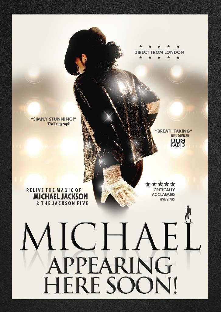 The Michael Jackson Tribute op 9 juni 2019 in Antwerpse Stadsschouwburg. - Affiche Michale Jackson Tribute
