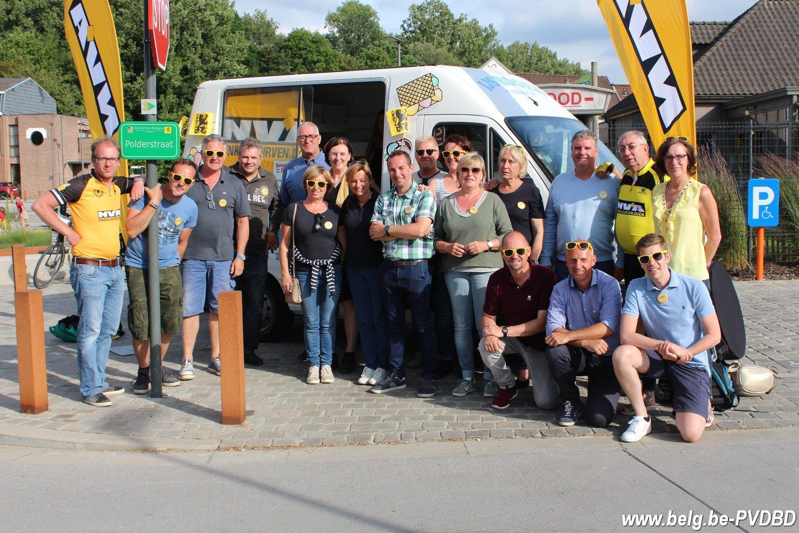 Gesmaakte actie van N-VA Dilbeek - IMG 8208