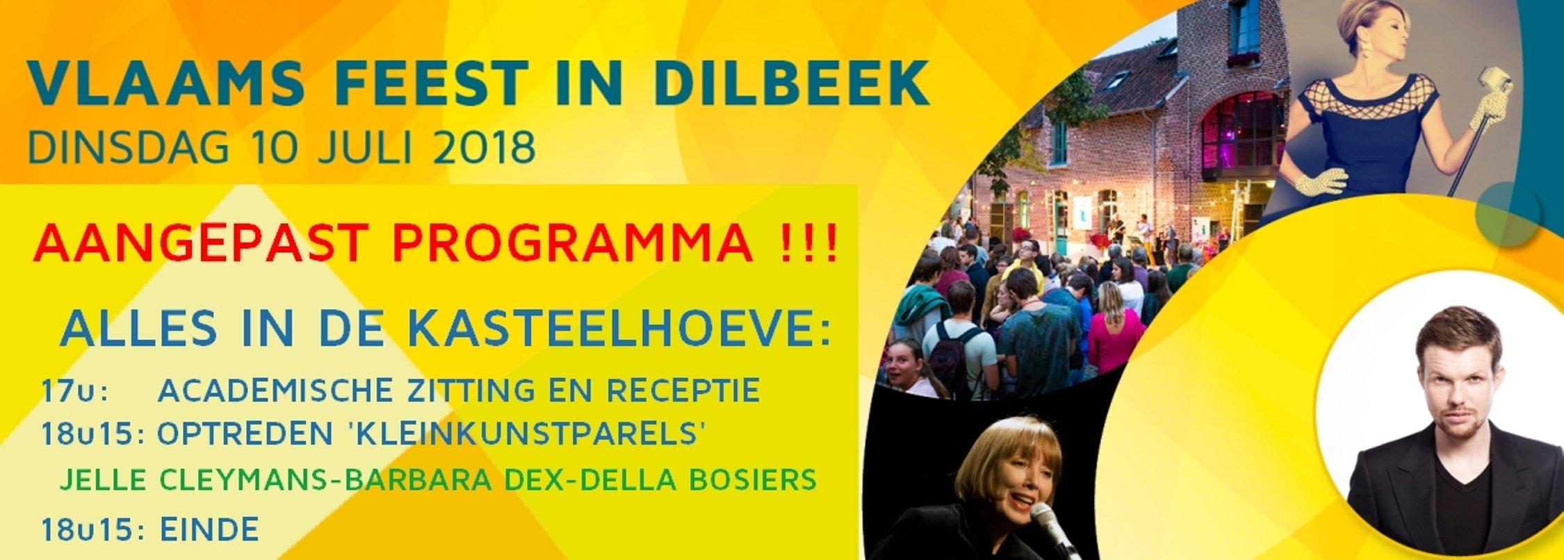 Dilbeek gaat dinsdag een Vlaamse en Duivelse Feestavond tegemoet - Aangepaste banner Vl Feest 2018
