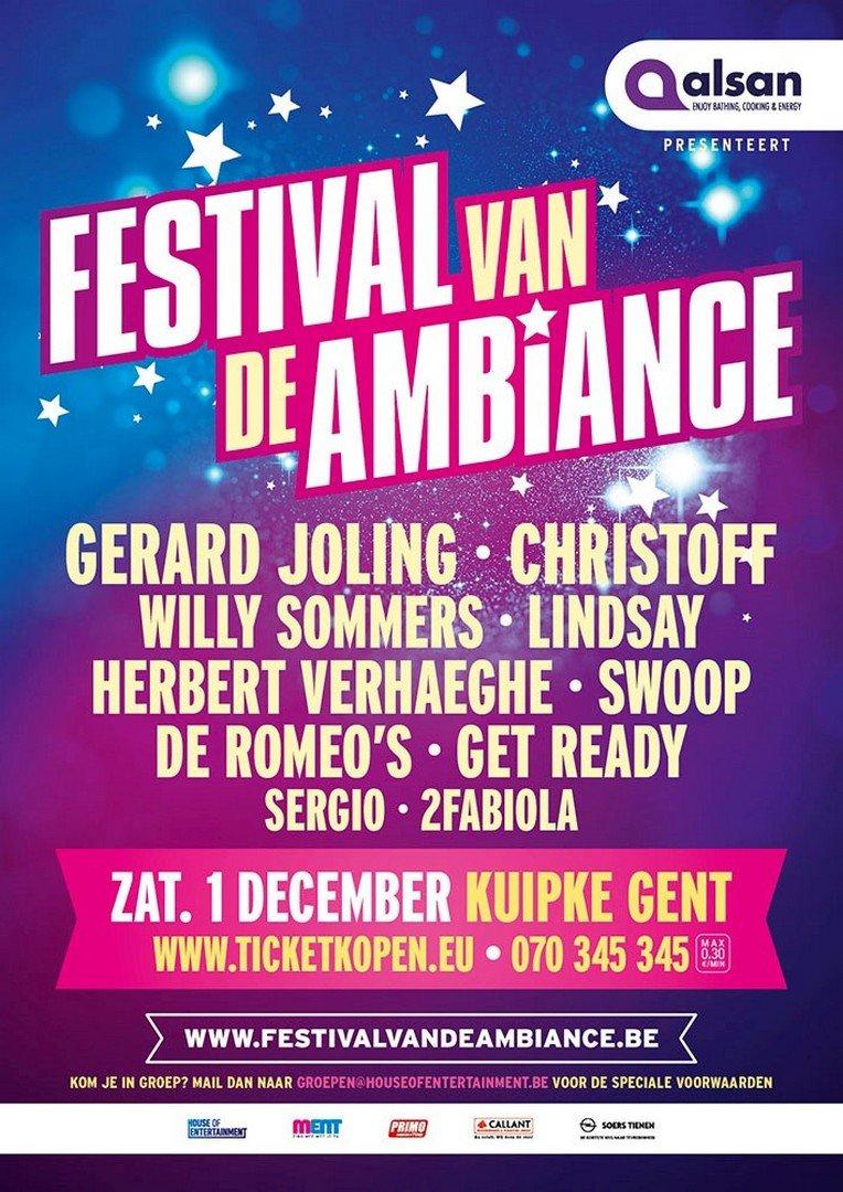 Gerard Joling is de Topper op het Festival van de Ambiance - Affiche Festival van de Ambiance 2