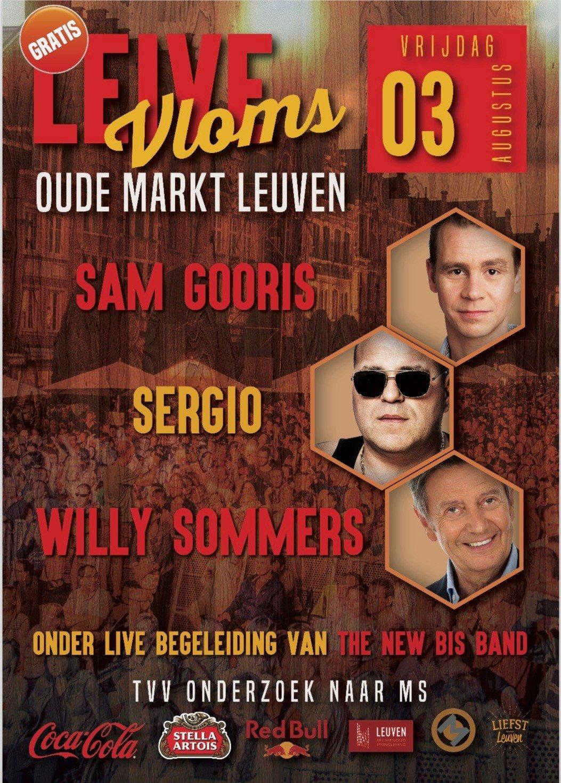 Leive Vloms haalt Sam Gooris, Sergio en Willy Sommers vrijdag naar de Leuvense Oude Markt - Leive Vloms 5