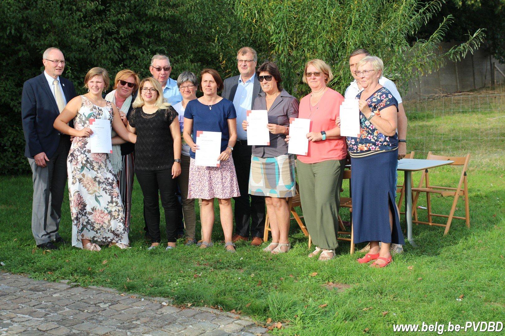 Uitreiking Brevetten EHBO en Dilbeek Hartveilig verklaard - IMG 1445