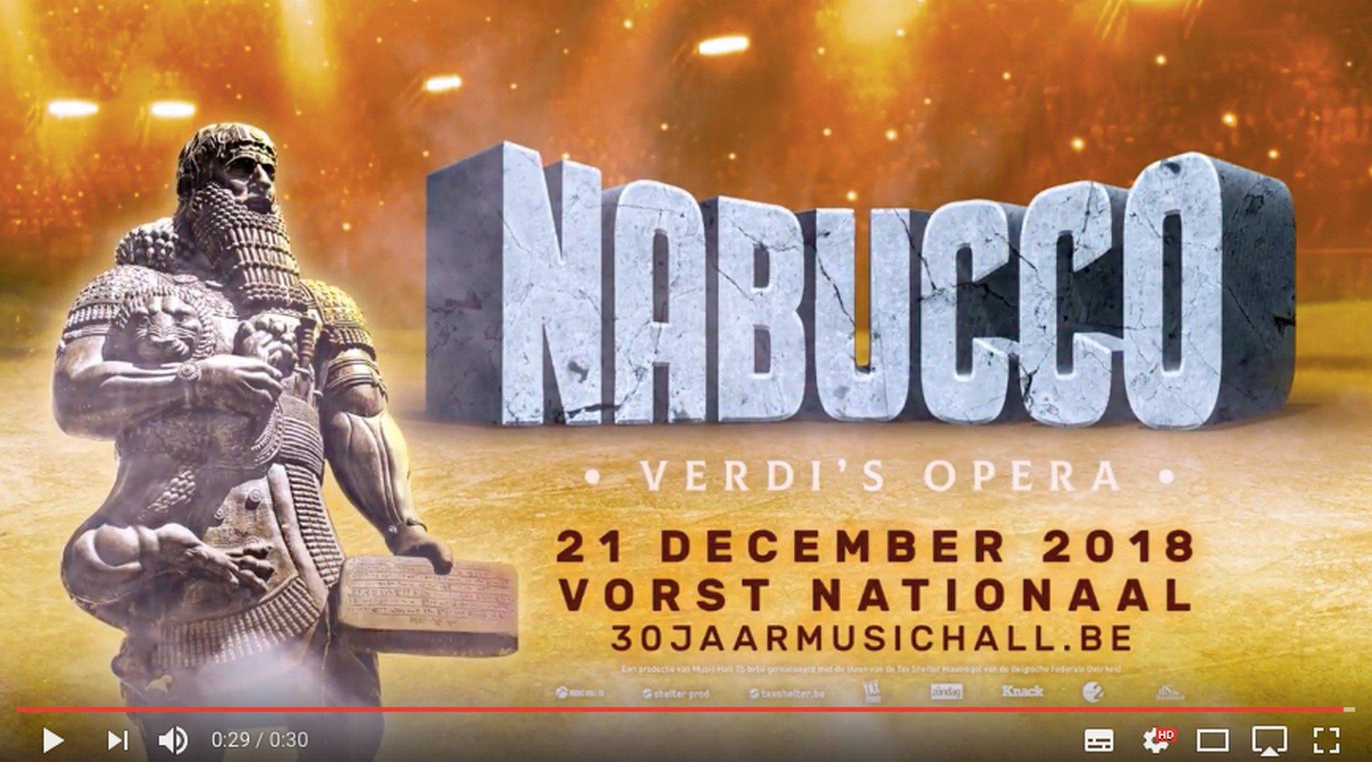 Christophe Deborsu debuteert in 'Nabucco' in Vorst Nationaal - Nabucco 2