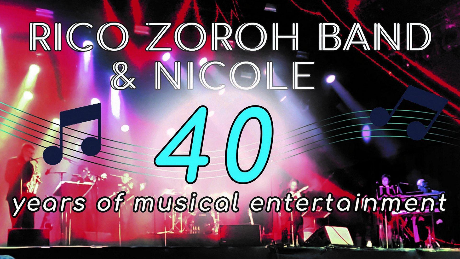De Rico Zoroh Band & Nicole vieren volgend jaar 40 jaar op de planken! - Rico Zoroh Band Nicole 1