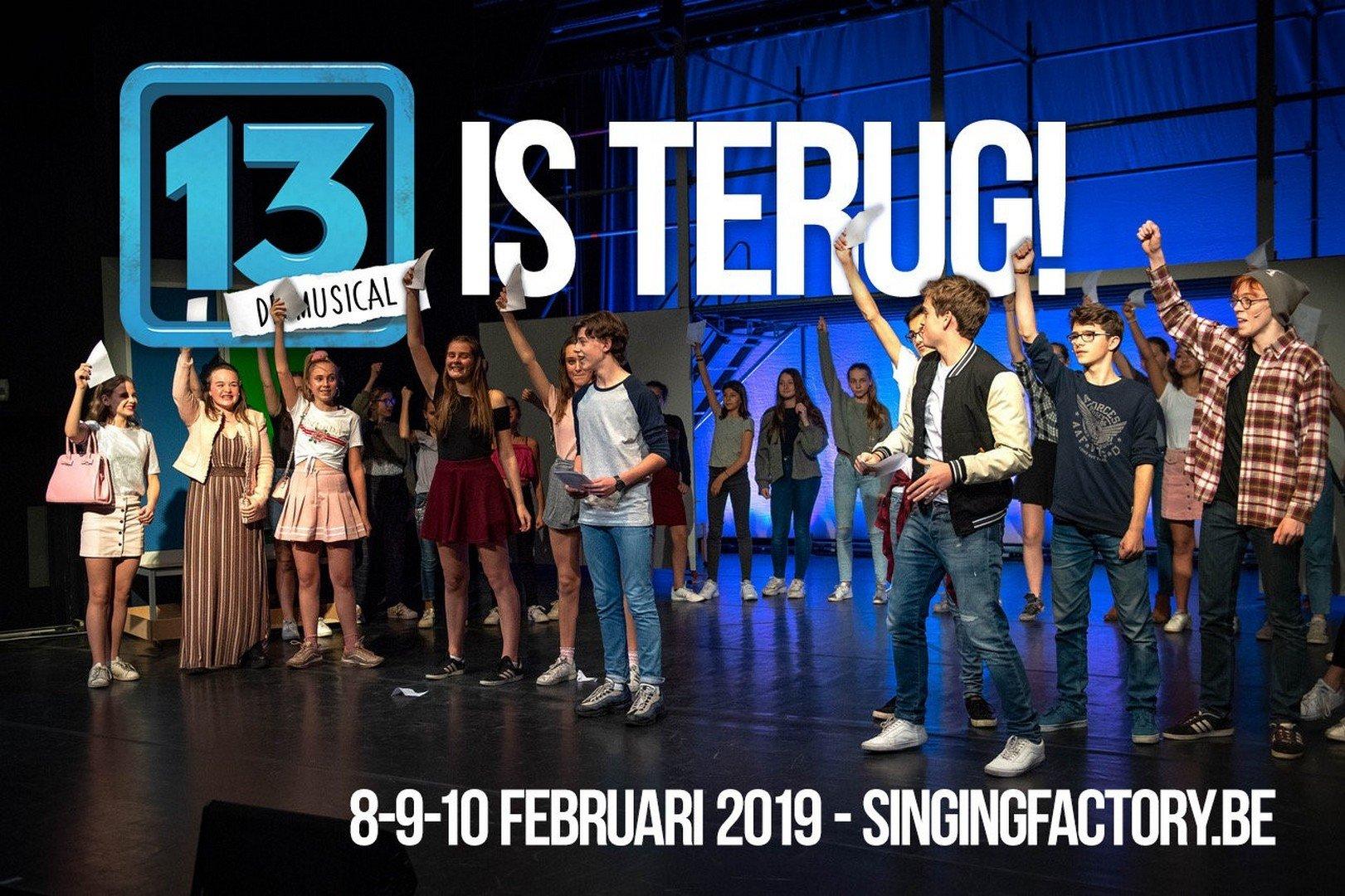 Tienercast swingende popmusical '13' klaar voor extra speelronde! - Musical 13 2