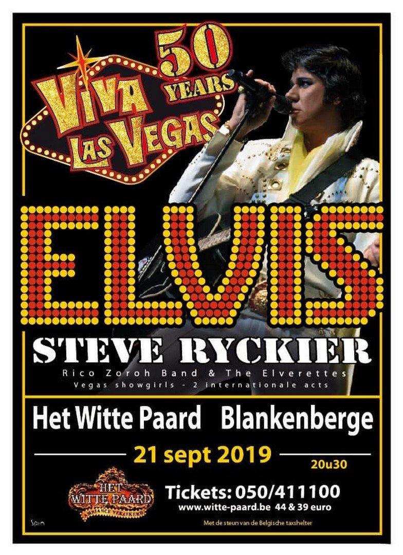 Steve Ryckier viert 50j Elvis in Las Vegas met optreden en Memphisreis - Elvis affiche