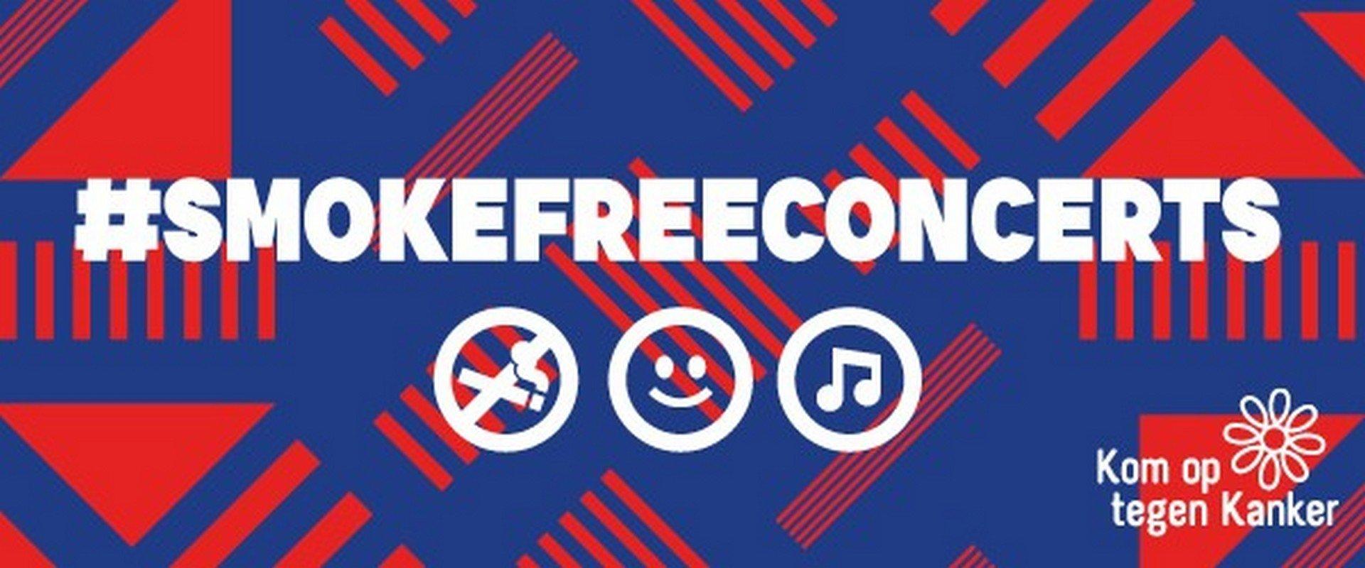 Sportpaleis Group steunt actie van Kom op tegen Kanker - logo smokefreeconcerts