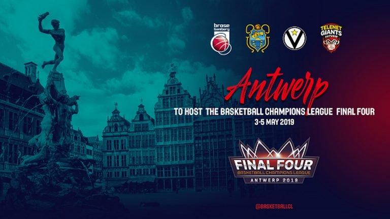 Antwerpen gaststad voor Basketball Champions League Final Four