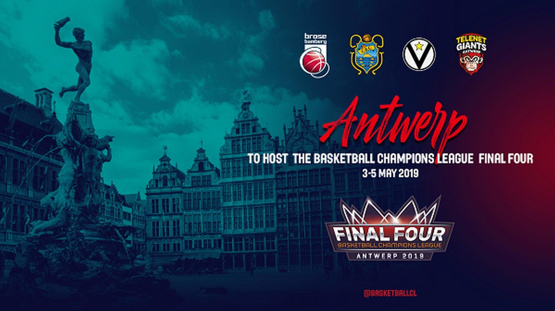 Antwerpen gaststad voor Basketball Champions League Final Four - Champions Laegue Antwerpen