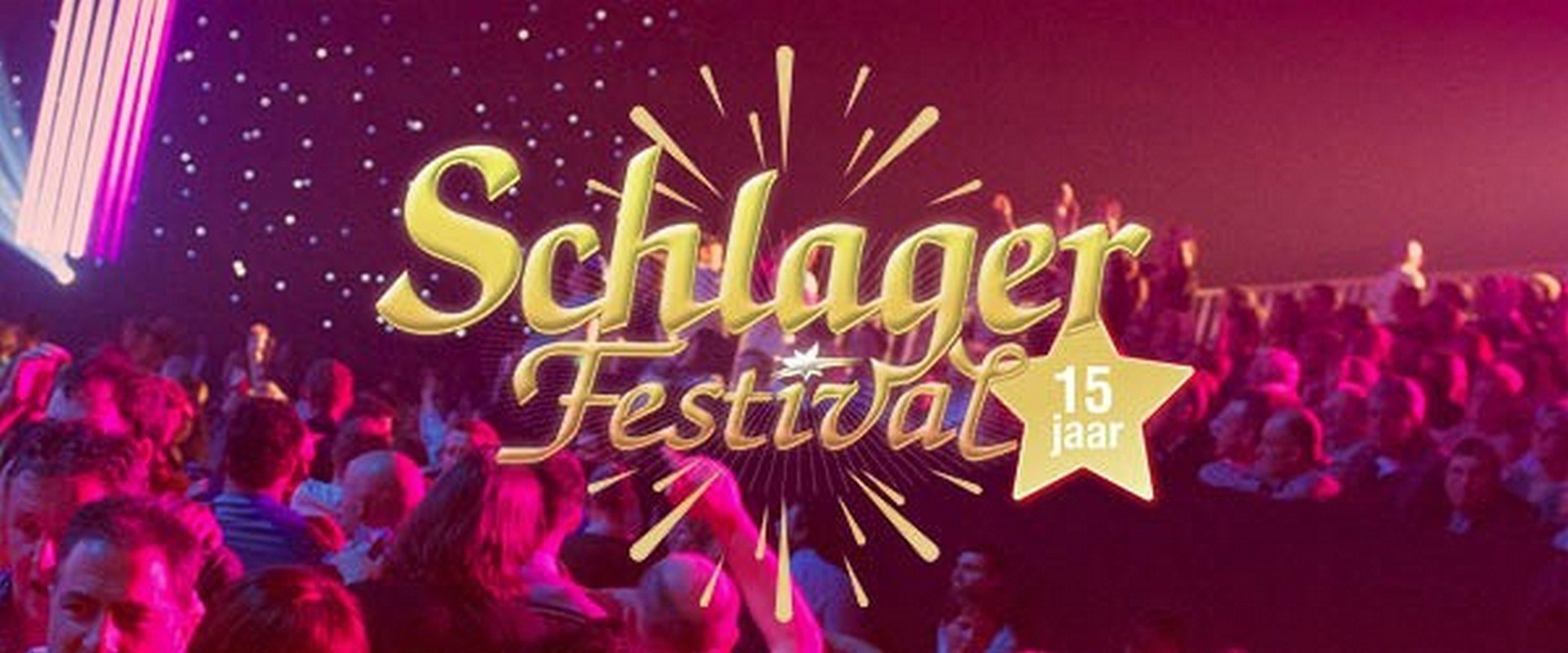 Het Schlagerfestival verrast Christoff met grote verjaardagstaart - Logo Sclagerfestival 15 jaar