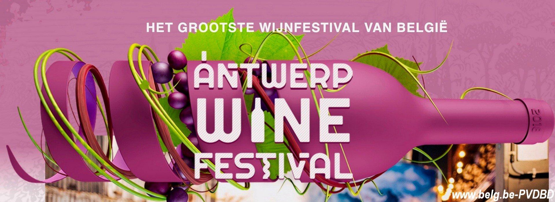 Rollende tonnen, wijnstampers en de beste wijnen vanaf vandaag het gratis 3-daags Antwerp Wine Festival! - Affiche Antwerp Fine Festival 1