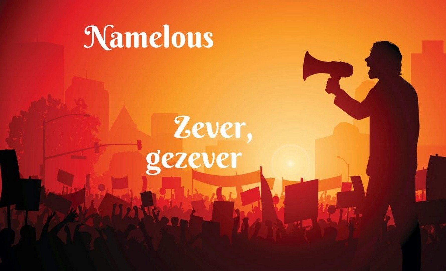 'De nieuwe single van Namelous: Zever, Gezever!' - Hoes Namelous