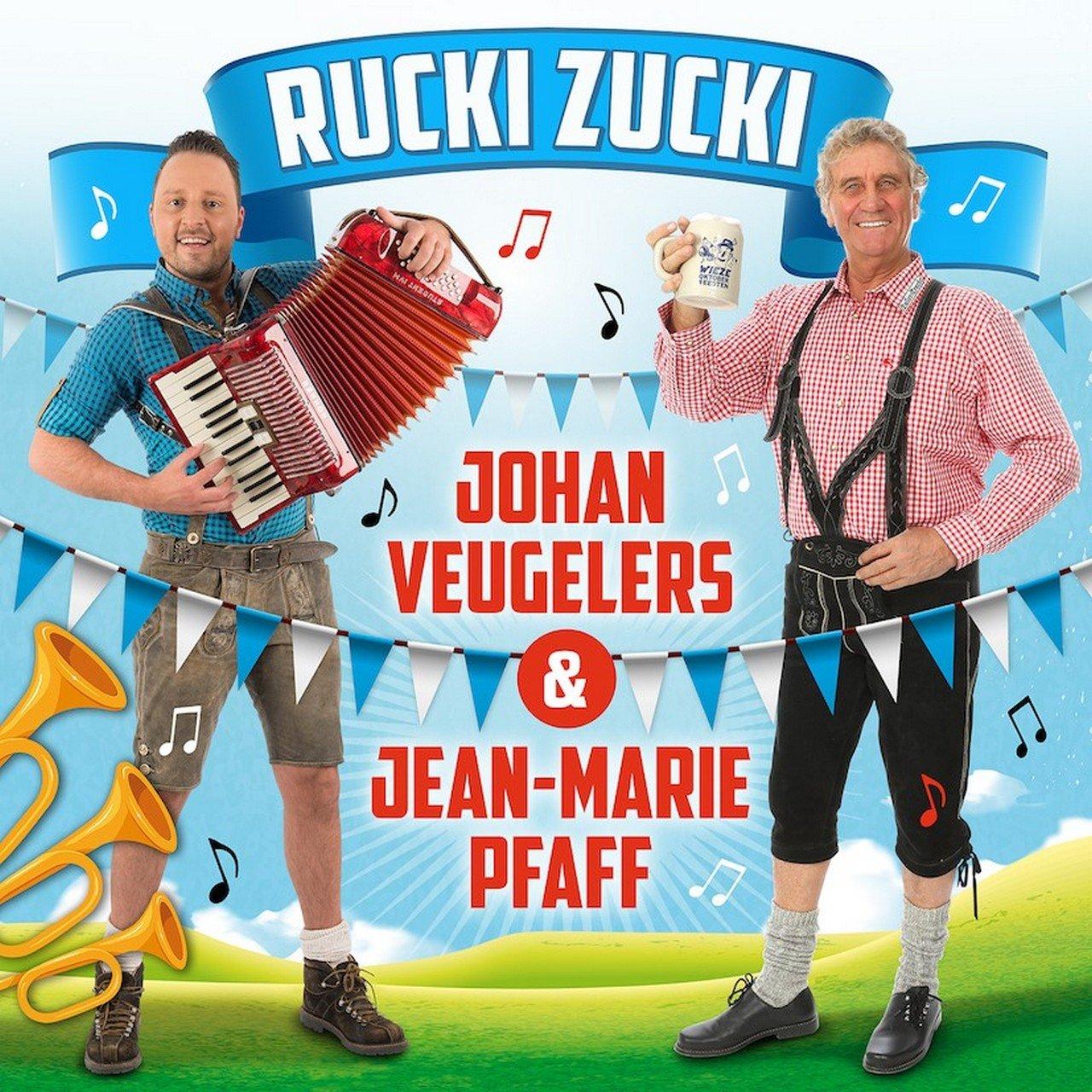 Johan Veugelers en Jean-Marie Pfaff lanceren hun veelbesproken duetsingle 'Rucki Zucki' - Hoes Rucki Zucki