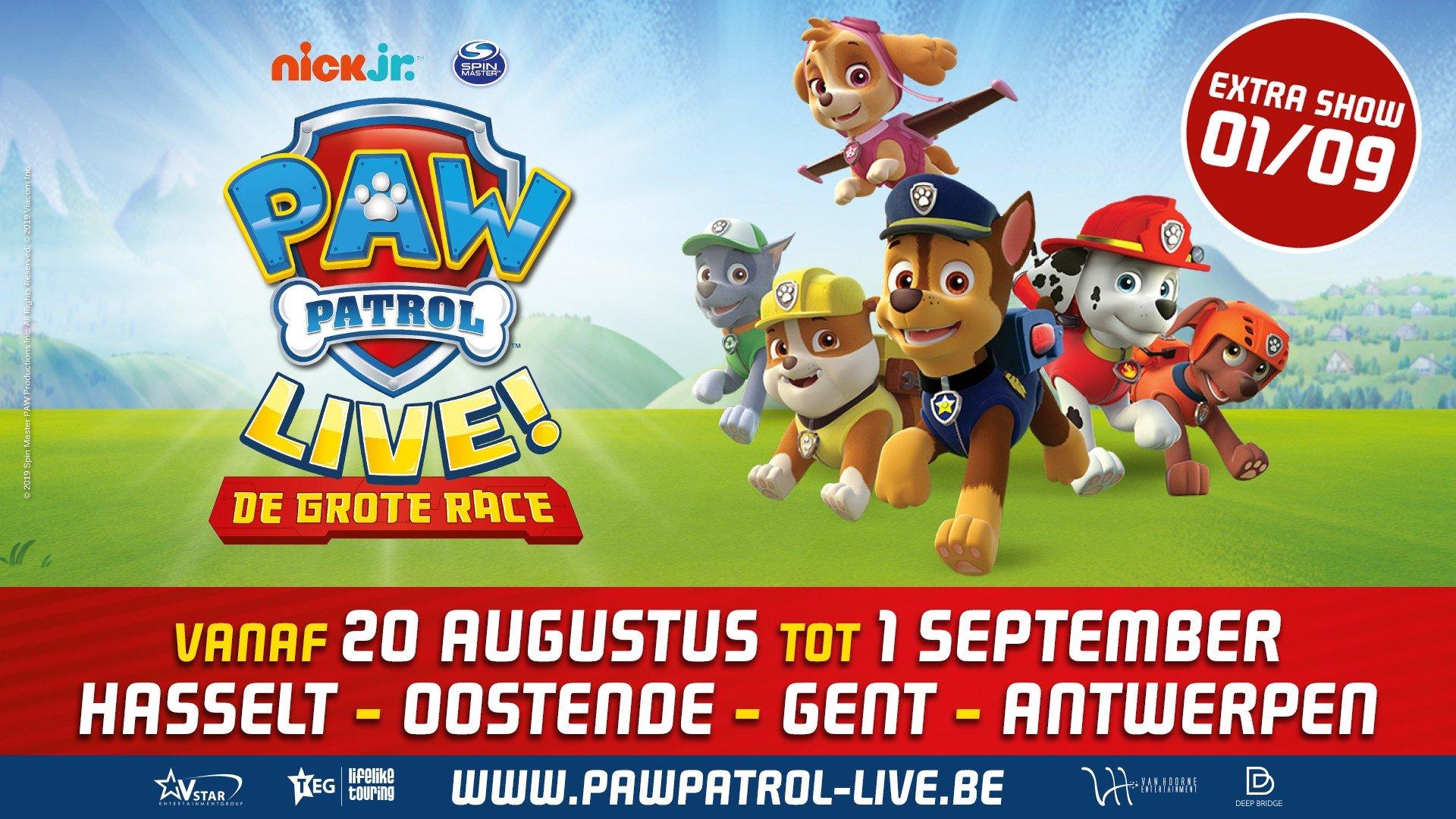 Extra theatervoorstellingen voor populaire Nick Jr.-serie PAW Patrol Live! - affiche Paw Patrol