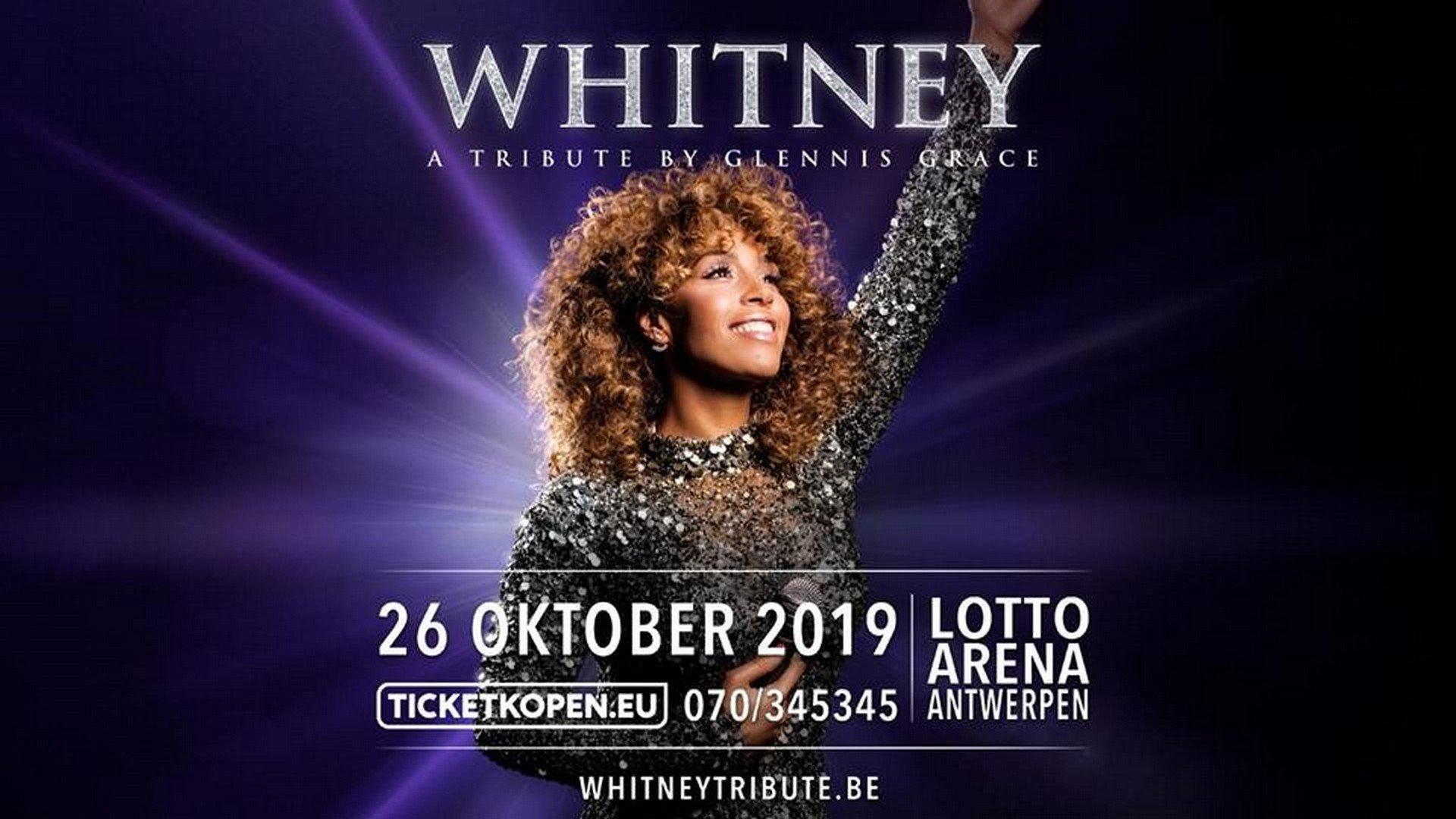 Antwerpse zanger Ivann 'special guest' op Whitney-tribute van Glennis Grace in de Lotto Arena - affiche a tribute by Glennis Grace