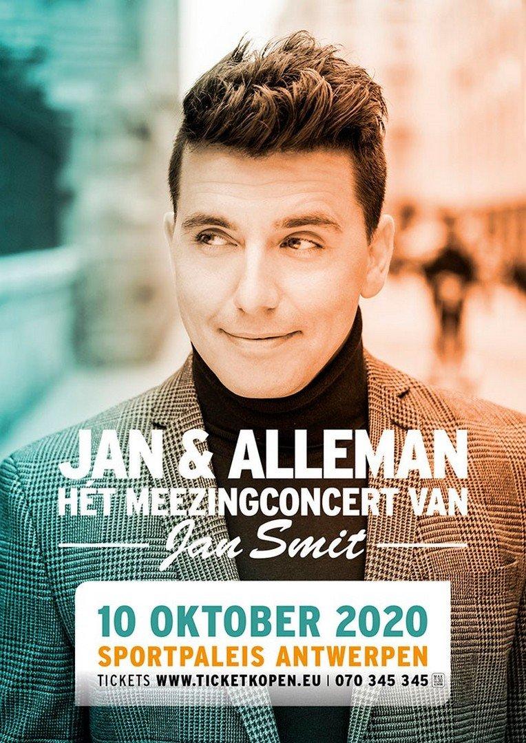 Gert Verhulst en James Cooke komen naar én zingen op Jan Smit zijn Sportpaleis-concert. - Affiche Jan Alleman