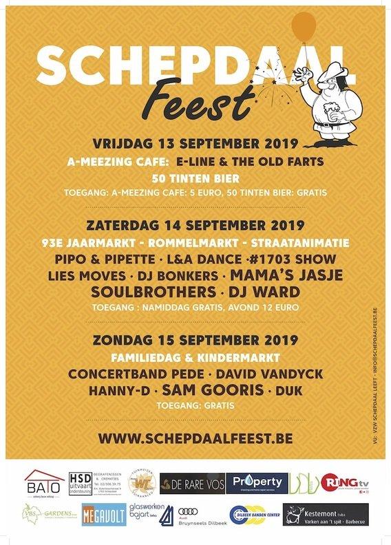 Bruisend Schepdaal feest 2019 - Affiche Schepdaal Feest 2019