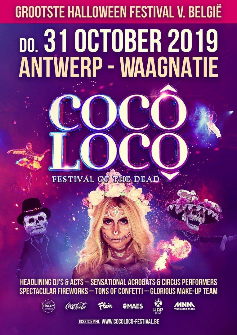 Cocô Locô laat je op 31 oktober mee griezelen - Affiche Coco Loco 2019