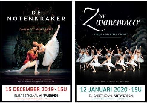 'De Notenkraker' (15/12) en 'Het Zwanenmeer' (12/01) terug naar Antwerpse Elisabethzaal - Ballet Antwerpen