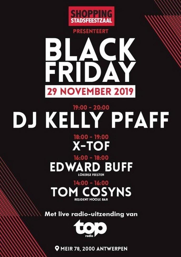 Antwerpse Stadsfeestzaal organiseert op Black Friday een gratis mini-festival - Affiche Black Friday 2019