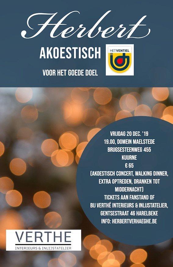 Herbert nieuwe kerstsingle 'Koud en eenzaam' - Affiche Herbert Akoestisch