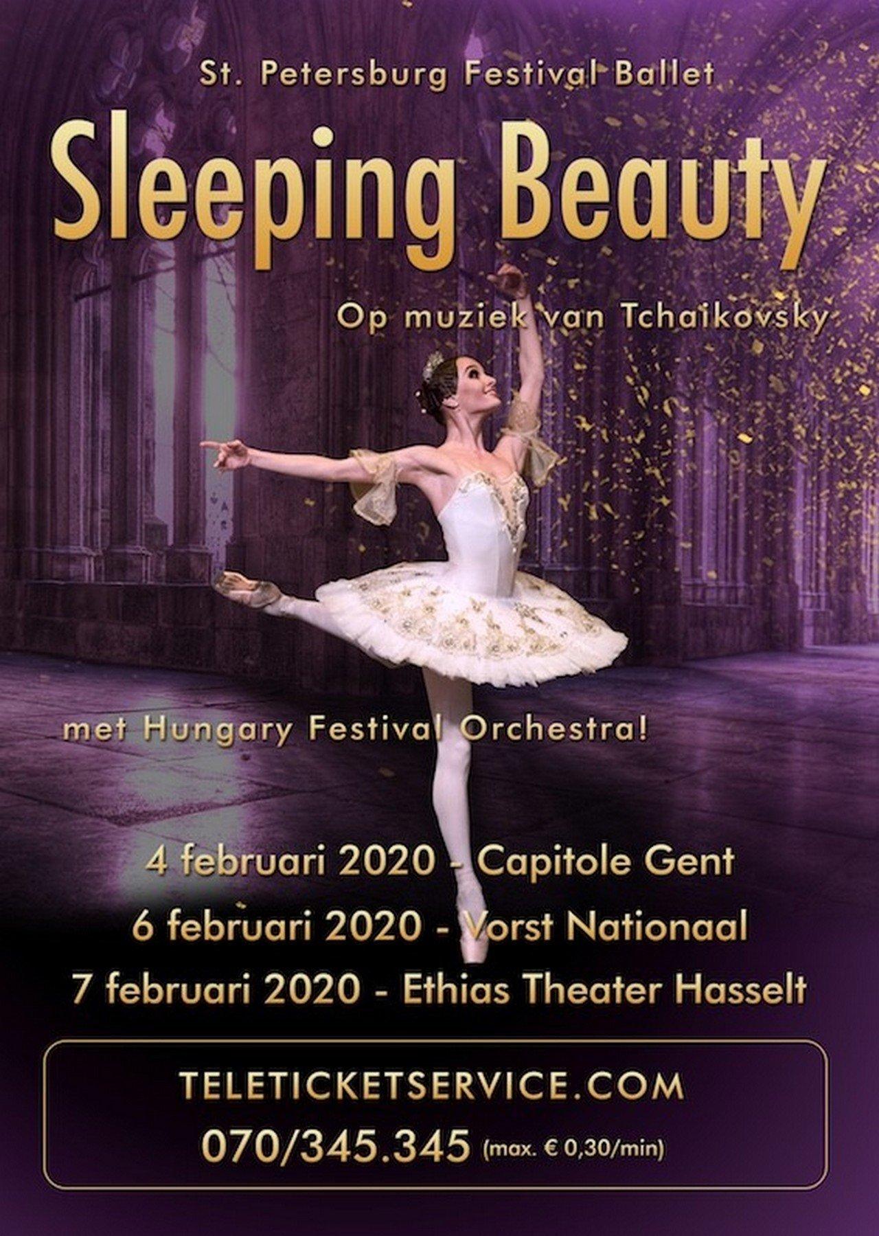 Sleeping Beauty in Gent, Vorst en Hasselt - Affiche Sleeping Beaty met Hungary festival Orchestra