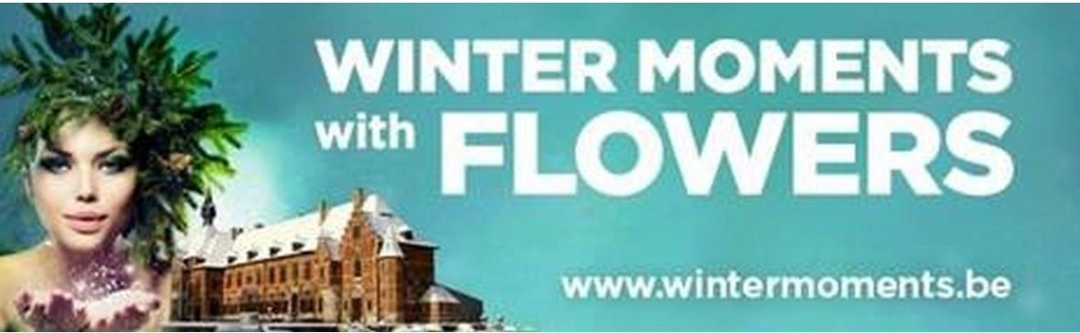 WINTER MOMENTS WITH FLOWERS - Affiche Wintermoments with flowers