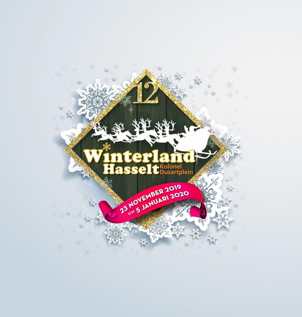 Hasselt is klaar voor de nationale intocht van de Kerstman! - Logo Winterland Hasselt 2019
