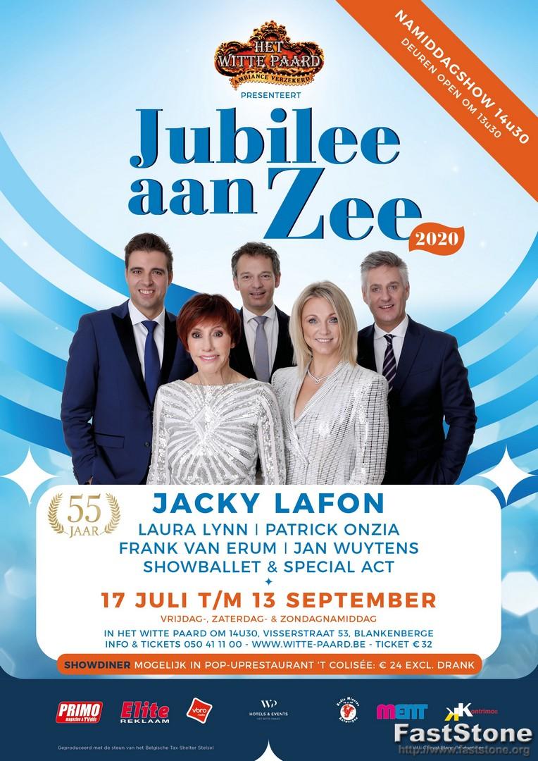 Het Witte Paard presenteert opnieuw 2 zomershows! - Affiche Jubilee aan zee
