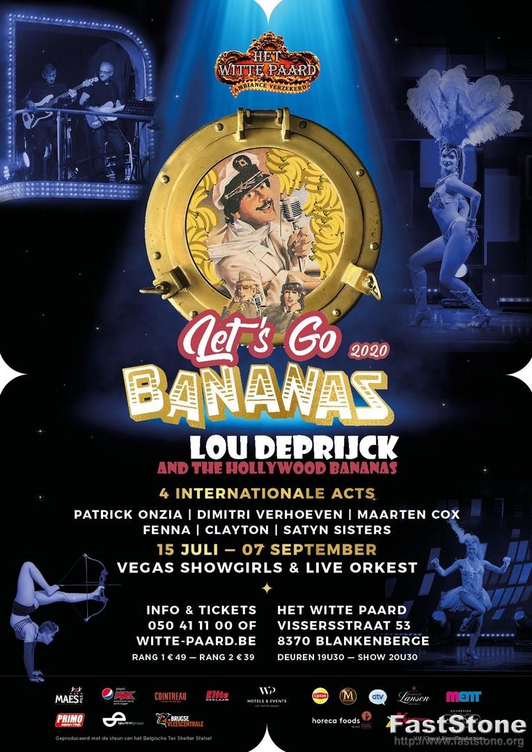 Het Witte Paard presenteert opnieuw 2 zomershows! - Affiche Lets go Bananas 2020