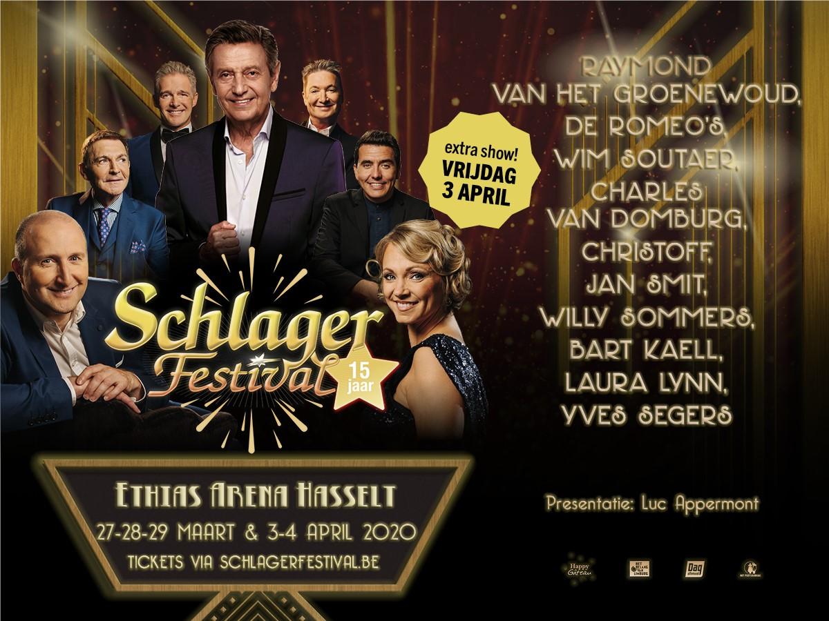 Het Schlagerfestival in Hasselt op weg naar recordeditie! - Affiche 15 jaar Schlagerfestival 2020 groot