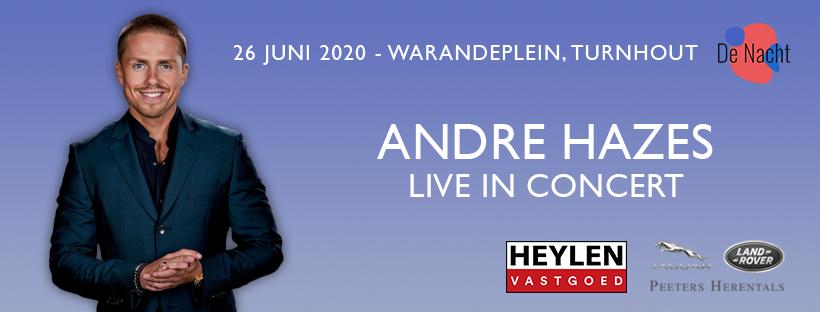 Martino Kluitmans opent op 26 juni 'De Nacht met André Hazes' - Affiche Andre Hazes Turnhout