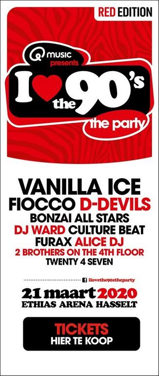 Met Vanilla Ice (Ice Ice Baby) en D-Devils is I love the 90's compleet - Affiche I Love the 90s met Vanilla Ice