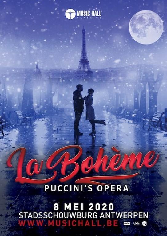 Music Hall Classics presenteert Puccini's La Bohème in Stadsschouwburg Antwerpen - Affiche La Bohémz
