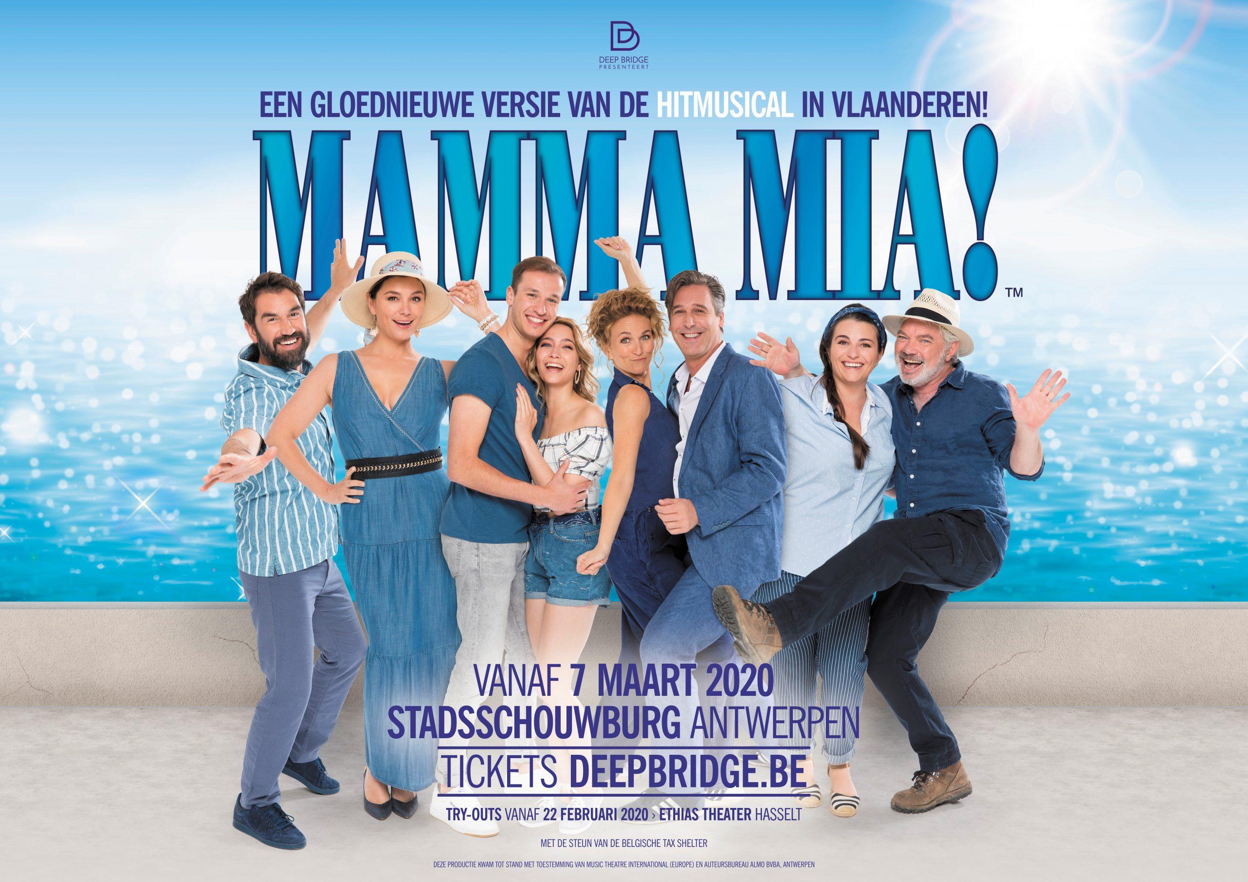 De MAMMA MIA!-cast is er klaar voor! - Affiche Mama Mia scaled